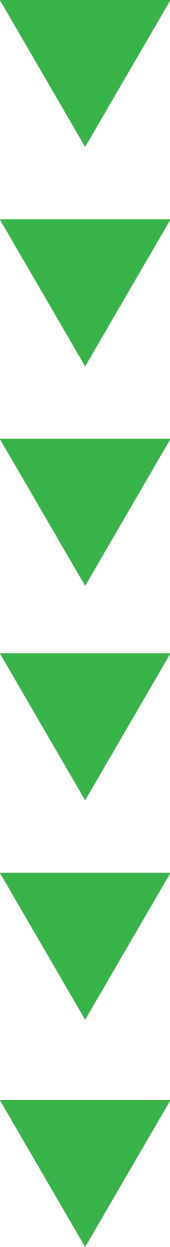 6 green triangles pointing down, in a vertical line