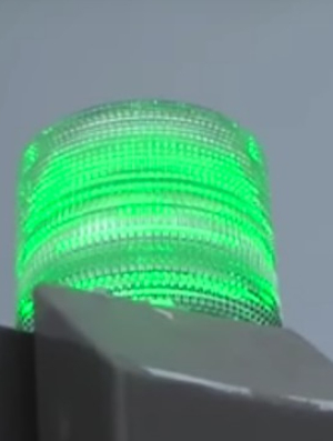 A green light that indicates a Project Green Light location